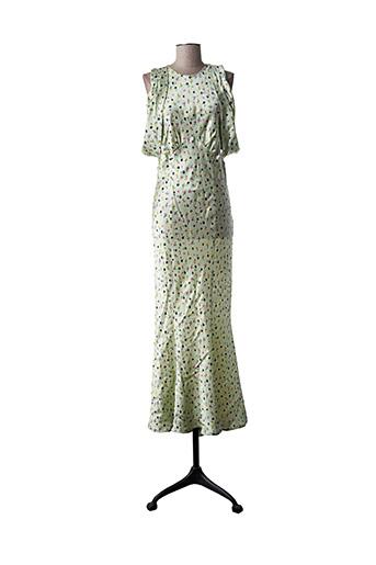 Robe longue vert ATTICO pour femme