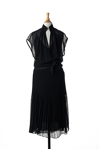 Robe mi-longue noir BY MALENE BIRGER pour femme