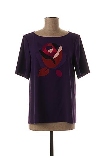 T-shirt manches courtes violet PAULE KA pour femme