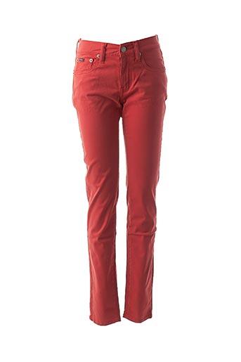 Pantalon casual rouge RALPH LAUREN pour femme