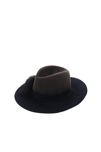 Chapeau bleu INVERNI pour femme