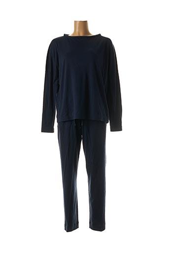 Pyjama bleu HANRO pour femme