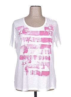 T-shirt manches courtes rose BASLER pour femme