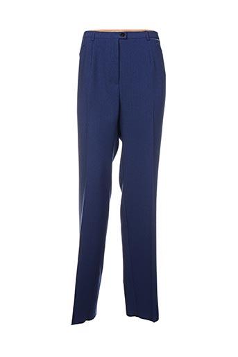 Pantalon casual bleu CHRISTIAN MARRY pour femme