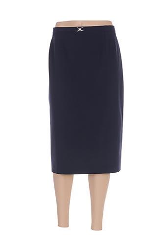 Jupe mi-longue bleu GERARD PASQUIER pour femme