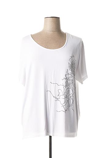 T-shirt manches courtes blanc FRED SABATIER pour femme