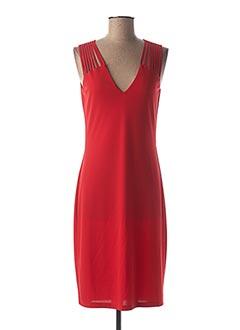 Robe mi-longue rouge EROKE pour femme