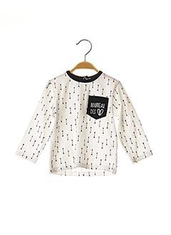 T-shirt manches longues blanc BULLE DE BB pour garçon