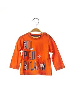T-shirt manches longues orange ESPRIT pour garçon