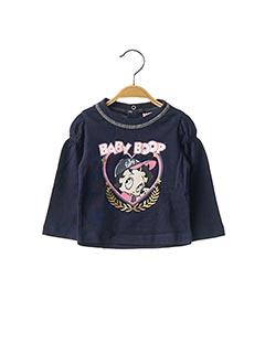 T-shirt manches longues bleu BABY BOOP pour fille
