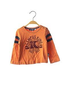 T-shirt manches longues orange ORIGINAL MARINES pour garçon