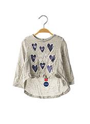 T-shirt manches longues gris ORIGINAL MARINES pour fille seconde vue