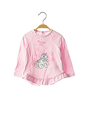 T-shirt manches longues rose ORIGINAL MARINES pour fille seconde vue