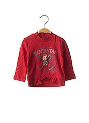 T-shirt manches longues rouge ORIGINAL MARINES pour fille seconde vue