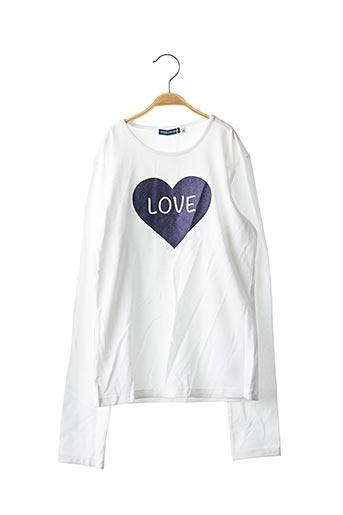 T-shirt manches longues blanc ORIGINAL MARINES pour fille