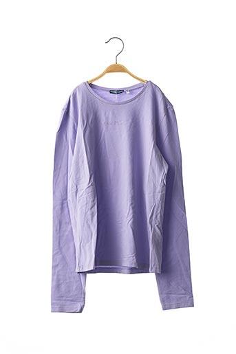 T-shirt manches longues violet ORIGINAL MARINES pour fille