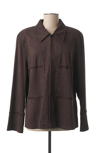 Veste casual marron DUO pour femme