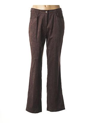 Pantalon casual marron DUO pour femme