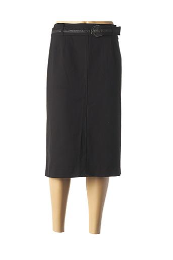 Jupe mi-longue noir LEBEK pour femme