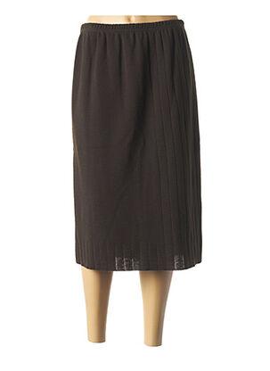 Jupe mi-longue marron RODAM pour femme