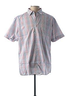Chemise manches courtes bleu PIERRE CLARENCE pour homme