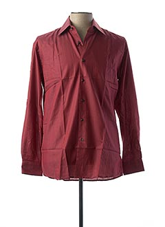 Chemise manches longues rouge PIERRE CLARENCE pour homme