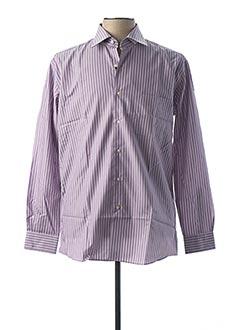 Chemise manches longues violet PIERRE CLARENCE pour homme