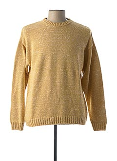 Pull col rond jaune ARMANDIA pour homme