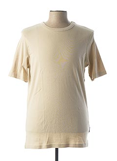 T-shirt manches courtes beige MONTE CARLO pour homme