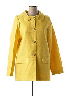 Manteau court jaune CYRILLUS pour femme