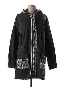 Manteau court noir DESIGUAL pour femme
