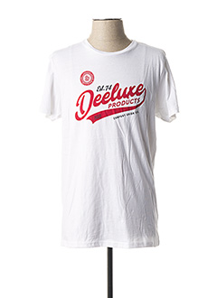 T-shirt manches courtes blanc DEELUXE pour homme