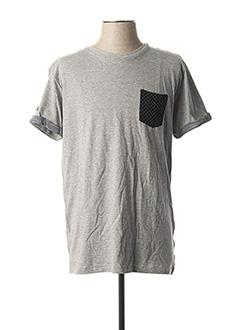 T-shirt manches courtes gris DEELUXE pour homme