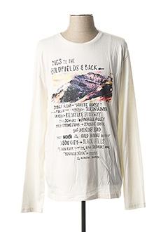 T-shirt manches longues blanc MCS pour homme