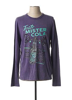 T-shirt manches longues violet MCS pour homme