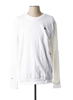 Sweat-shirt blanc LE COQ SPORTIF pour homme