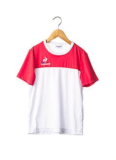 T-shirt manches courtes blanc LE COQ SPORTIF pour enfant