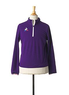 Veste casual violet LE COQ SPORTIF pour enfant