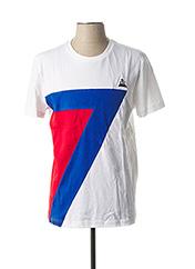 T-shirt manches courtes blanc LE COQ SPORTIF pour homme seconde vue