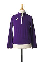 Veste casual violet LE COQ SPORTIF pour enfant seconde vue