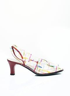 Sandales/Nu pieds rouge CARLINE pour femme