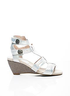 Sandales/Nu pieds gris CONNIVENCE pour femme