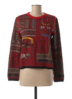 Pull col rond rouge ALDO MARTIN'S pour femme