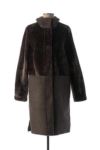 Manteau long marron BEAUMONT pour femme