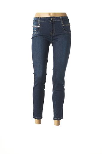 Pantalon 7/8 bleu DESGASTE pour femme