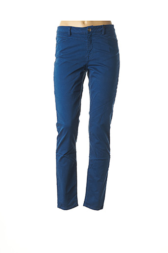 Pantalon casual bleu EMMA & CARO pour femme