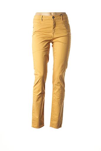 Pantalon casual orange EMMA & CARO pour femme