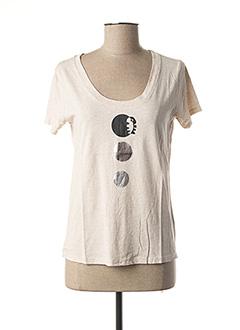 T-shirt manches courtes beige DIPLODOCUS pour femme
