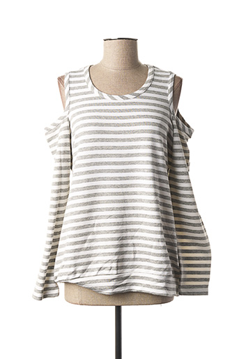Sweat-shirt gris MARIA BELLENTANI pour femme