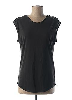 T-shirt manches courtes noir REPLAY pour femme